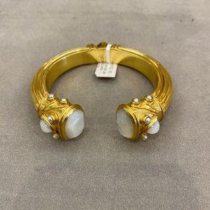Julie Vos 24k gold plated Hinged Bracelet